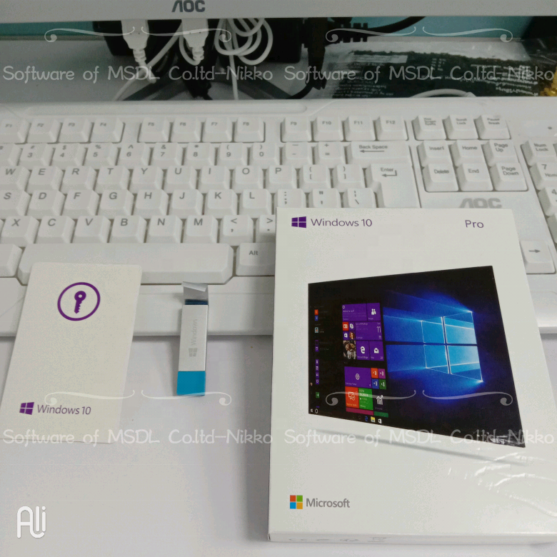 Actualización coreano software Hardware Software de Microsoft Windows 10 profesional 32 64 Bits caja de venta al por menor con USB 100% Original