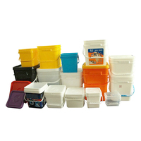 Supply 2L 5L 8L 10L 15L 18L 20L square plastic bucket in food grade
