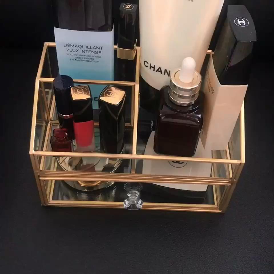 Professionale caso cosmetico portatile del chiodo di stoccaggio Cosmetico Rossetto supporto di Spazzola di trucco organizzatore