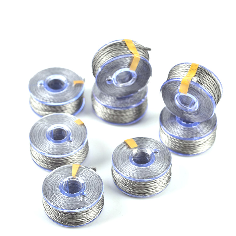 316 stainless steel filament silver metallic conductive yarn for knitting