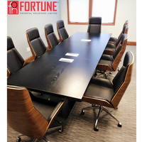 12 Person Executive Office Wooden Acrylic Conference Room Table