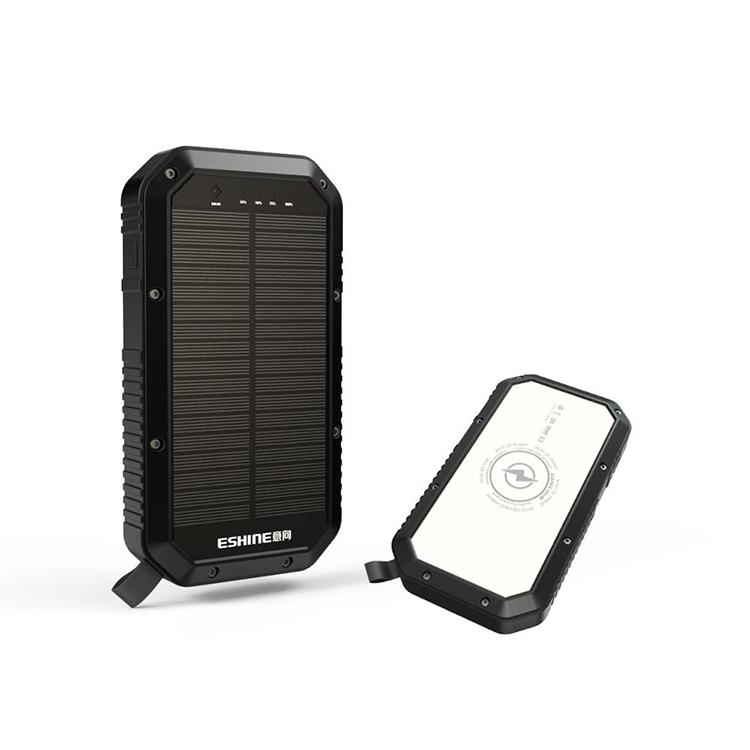 2019 Indiegogo Crowdfunding Produk Portable IP65 Tahan Air Listrik Solar Charger dengan Cahaya 20000 MAh
