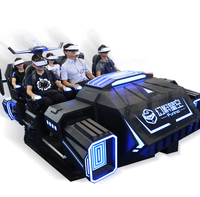 FuninVR Hot Sale earn money Virtual Reality multiplayer vr simulator game machine 6 Seats Racing 9d VR simulator