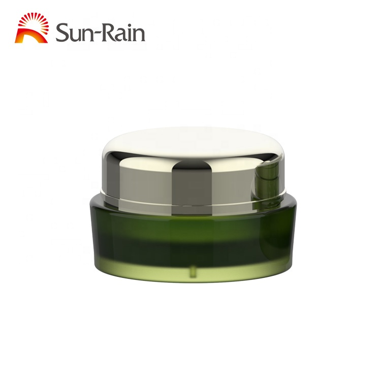 Natural products round shape 15g 30g 50g plastic PMMA inner cosmetic acrylic cream jar