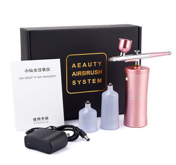 Dual Action Airbrush Kit Compressor Portable Air Brush Paint Spray Gun Deep Hydrating Sprayer For Nail Art Tattoo Cake Makeup