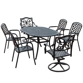 Garden 6 Seater Patio Dining Set Cast