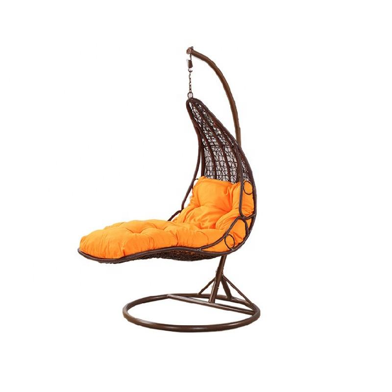 गर्म बिक्री एकल फांसी कुर्सियों पीई रतन स्विंग कुर्सी हाथ से बनाया आउटडोर फर्नीचर