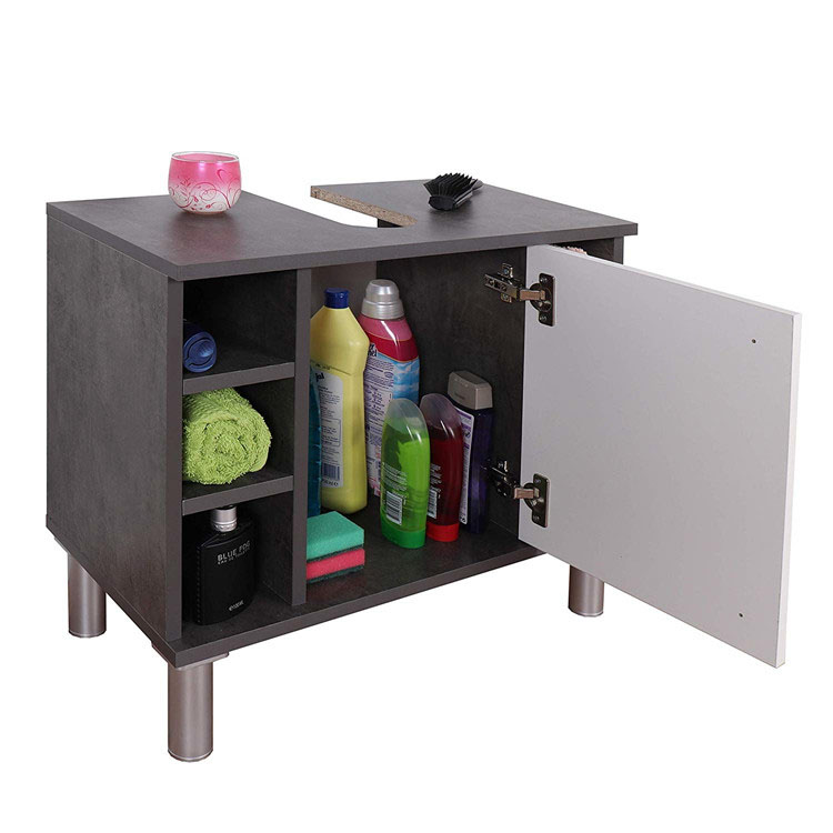 Single Door High Foot Bathroom Cabinet