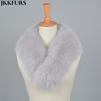 High Quality Real Fox Fur Big Collar Scarf Women Fashion Magnet Shawls Autumn Winter Warm Collars S7205