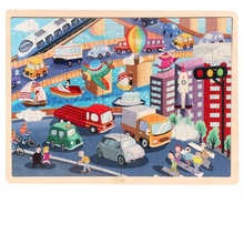 Hohe qualität 100pcs <span class=keywords><strong>holz</strong></span> kinder puzzle jigsaw puzzle feuer motor/dinosaurier puzzle pädagogisches <span class=keywords><strong>spielzeug</strong></span>