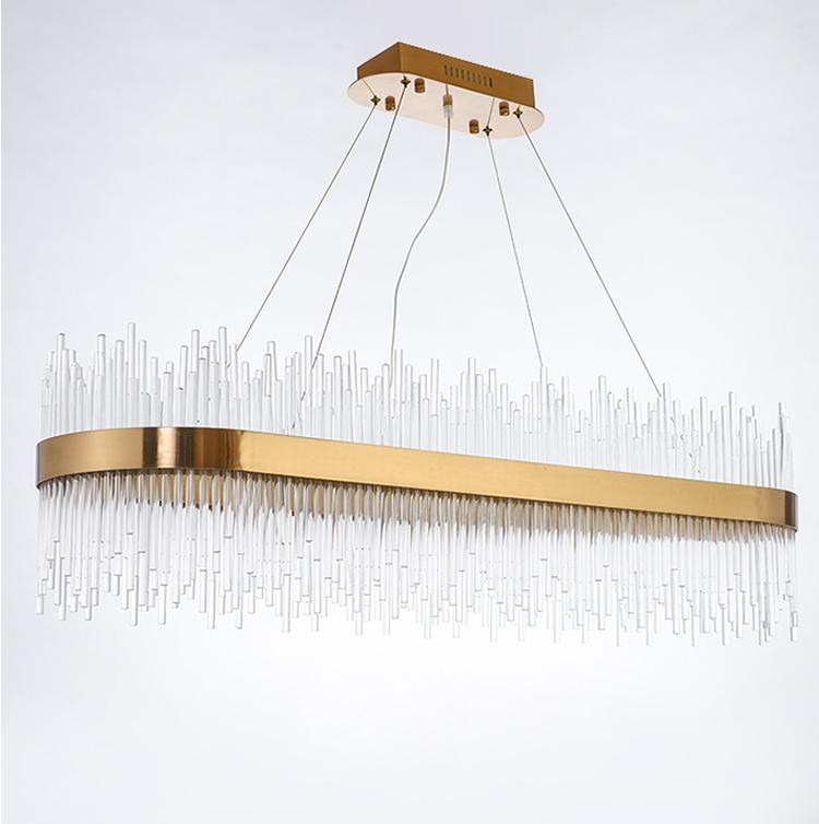 hotel modern 2020 new design living room luxury k9 crystal chandeliers pendant lights guzhen stainless steel led hanging lights