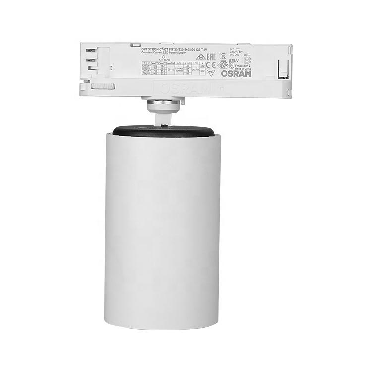 Modern LED Interior Shop Lighting 35w 3800lm KA Lens Aluminum Housing Track Mount Spot Light