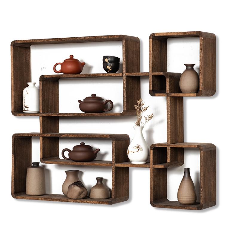 パン高品質美しい木製ラックホームデコレーションアクセサリー現代壁の棚
