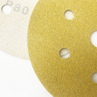 5 Colour Sandpaper Disc German Production Line Hook And Loop Or Psa Backing P60 - P800 5 Inch Gold Colour Abrasive Sanding Paper Discs Sandpaper Disc