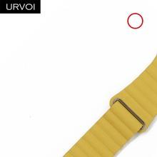 URVOI кожаный ремешок для apple watch series 5 4 3 2 1 ремешок для iwatch 40 44 мм мягкий pu Кожаный ремешок Удобная пряжка с магнитом(Китай)