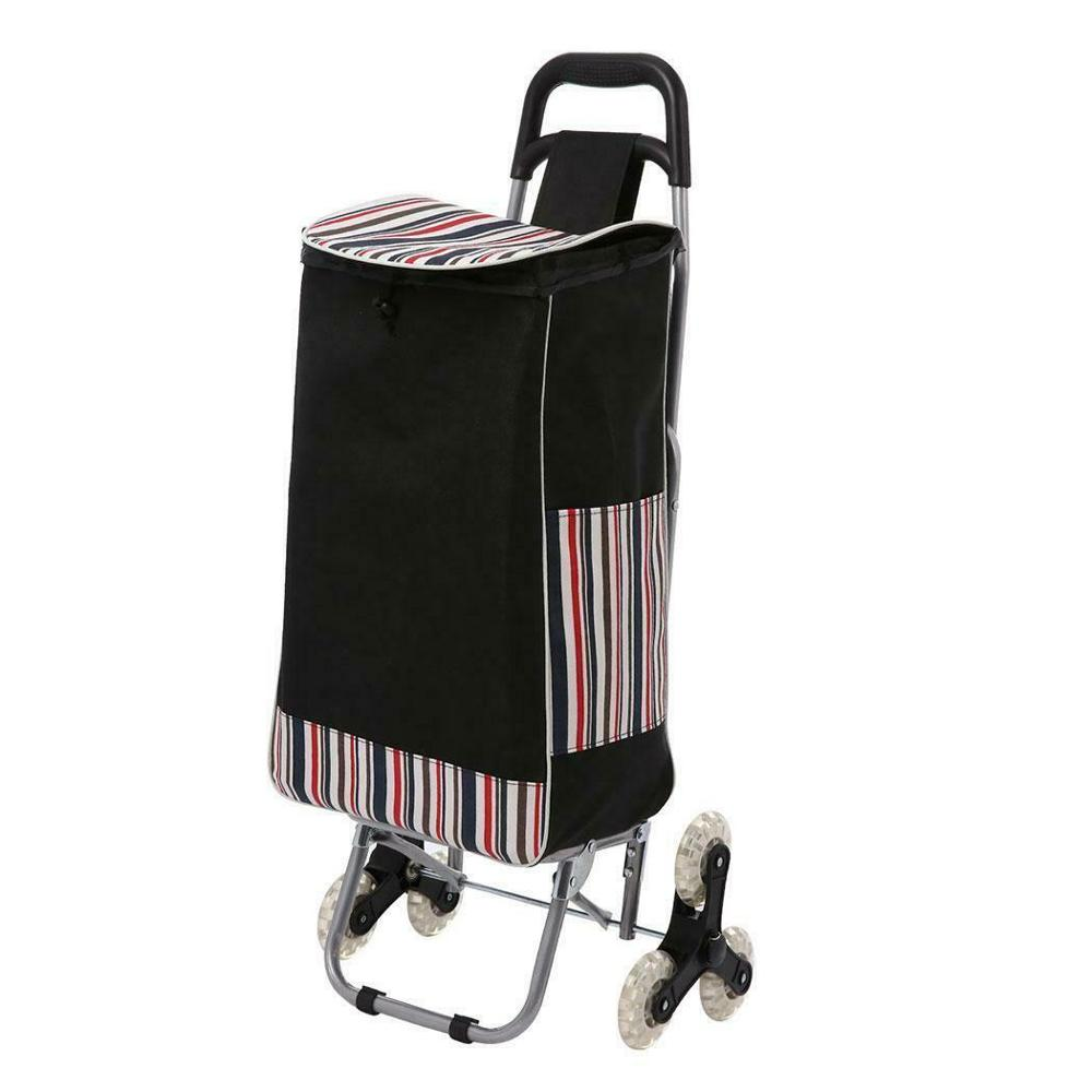 folding luggage cart 3 wheels climb stair shopping trolley foldable hand cart 3 wheels airport hand trolley
