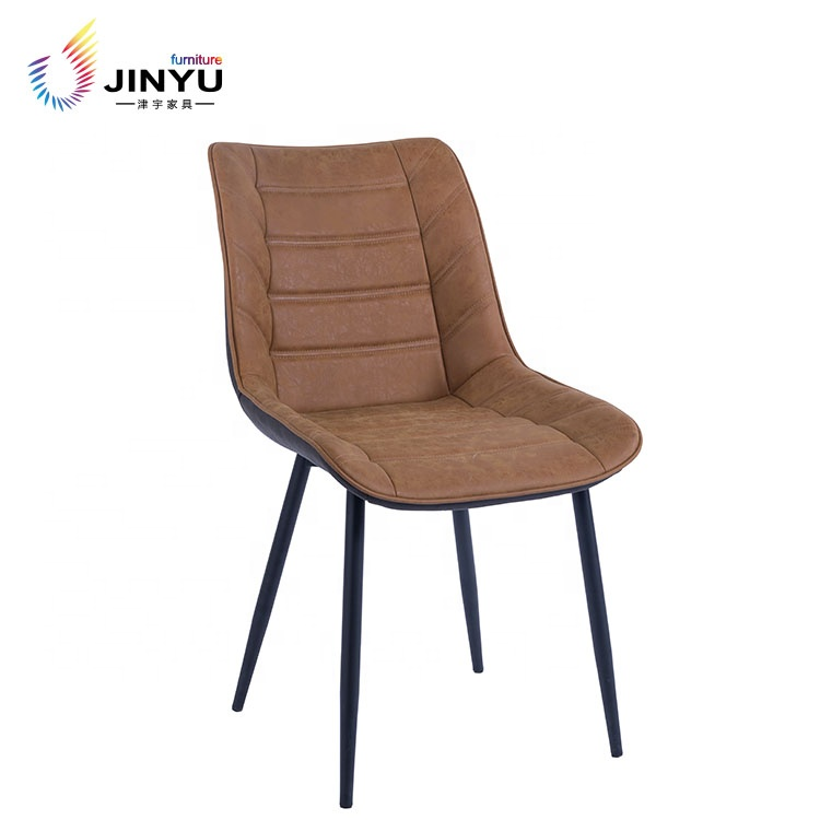 Leather hotel dining chairs modern restaurant