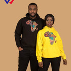 High Quality Custom French Terry Cotton Polyester Fleece Hoodie Unisex African Totem Map Print Loose Hoodie