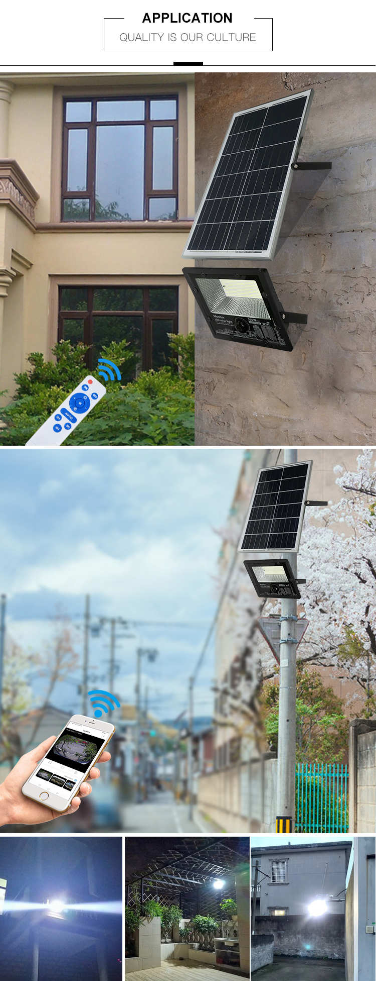 Süper parlak IP67 su geçirmez dış mekan alüminyum SMD 200w 300w 400w güneş led projektör