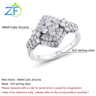 High Quality Women Rings 925 Sterling Silver 4ACubic Zirconia Wedding Engagement Gift Ring for Women