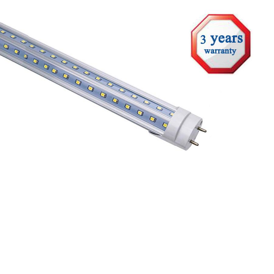 100 v 240V led fluorescent V shape 2x20w 40w two PCB lines 240 degree 6 foot led tube light