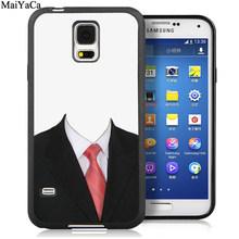 MaiYaCa чехол для телефона с принтом галстука из мягкой резины OEM для samsung Galaxy S5 S6 S7 edge S8 S9 S10 Plus Lite Note 9 5 8 чехол(Китай)