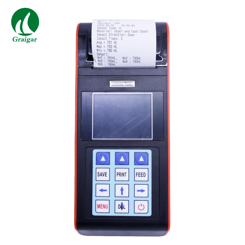 NDT290+ Portable Hardness Tester with D Impact Device and Built-in Printer