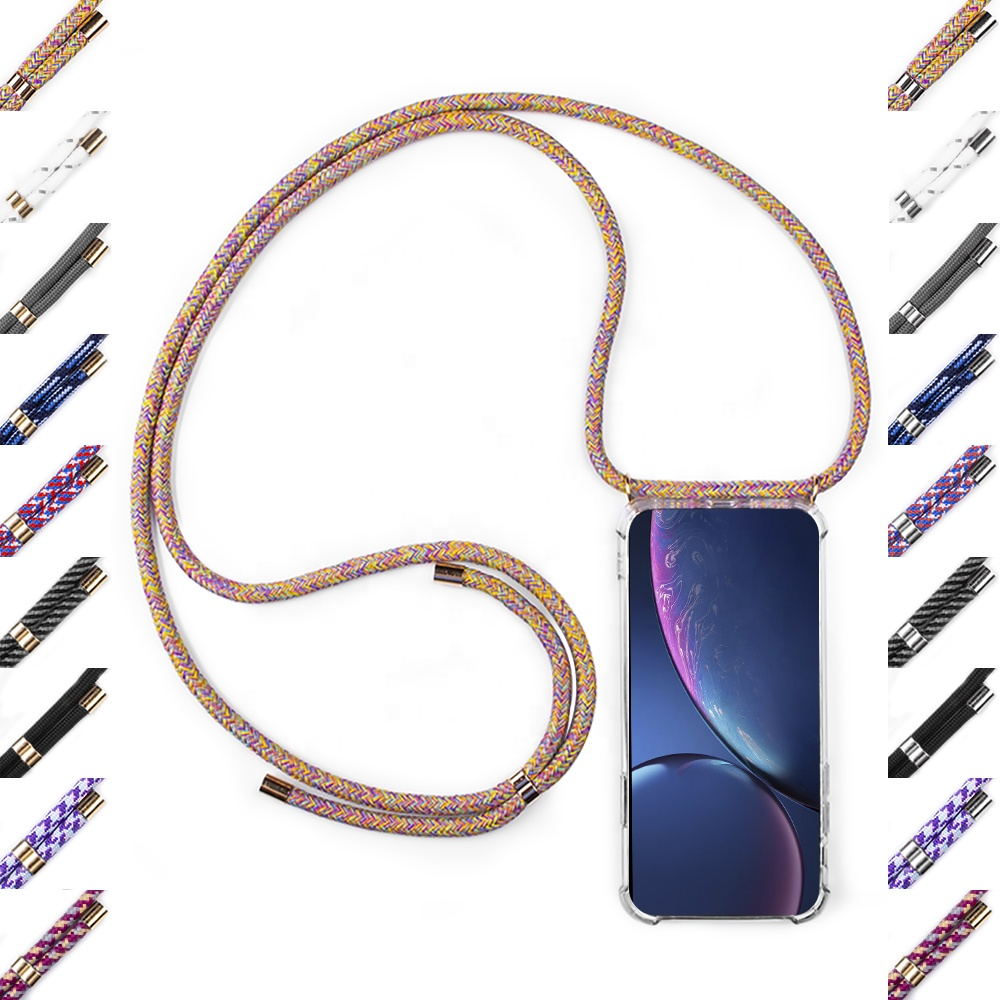 Necklace cellPhone Case Chain Crossbody Neck Strap/Cord/Rope Mobile Cell Phone Case For Iphone 11 Xs/XR/X/8/7/6 Plus Phone <strong>Cover</strong>