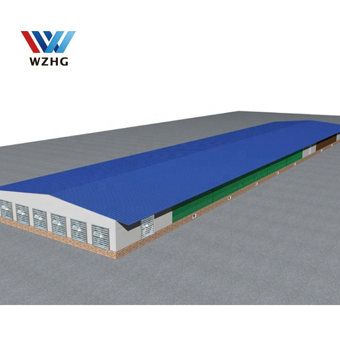 2020 NEW DESIGN Automatic poultry farm shed prefab chicken farm building house for garden
