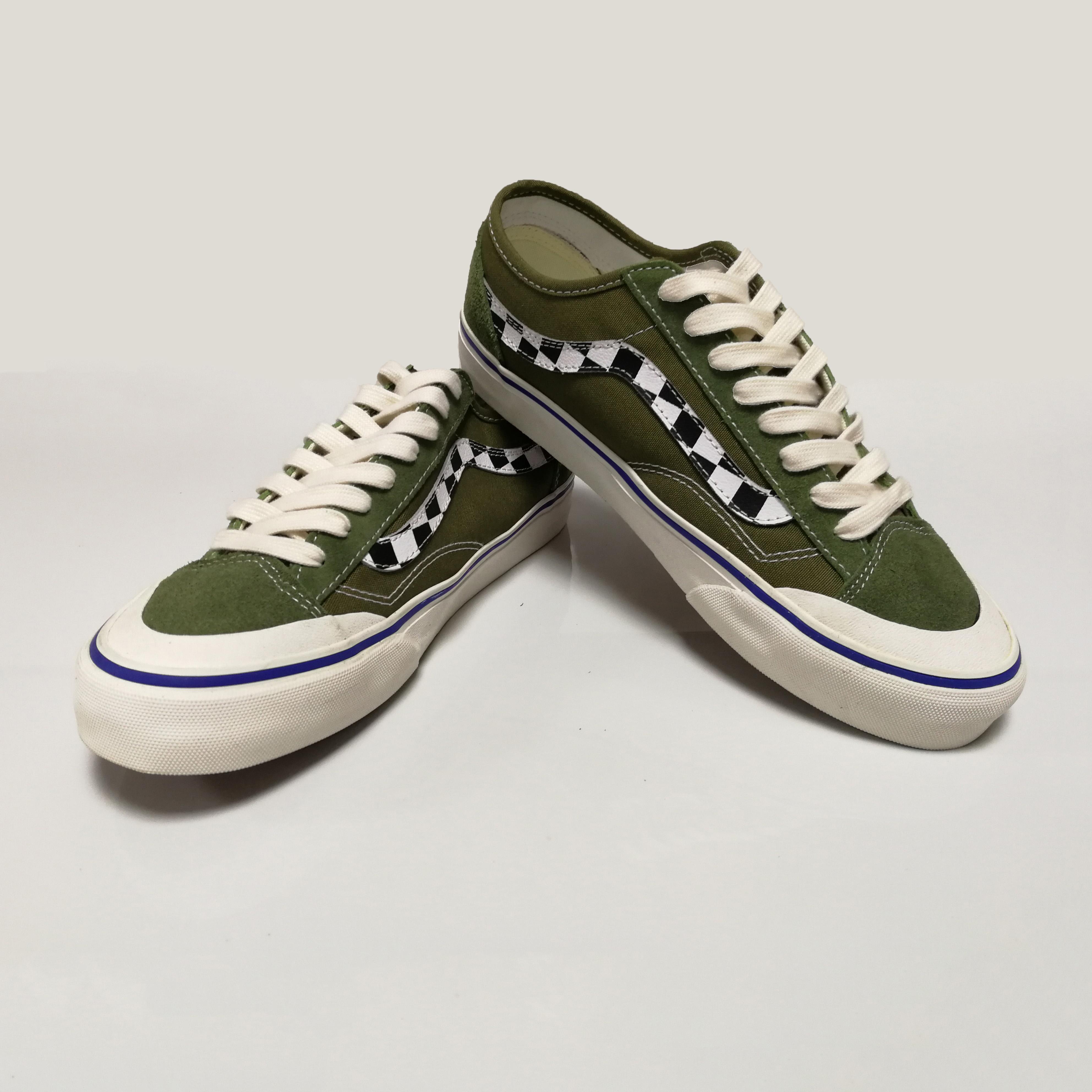 Rahat yeşil paten spor salonu ayakkabısı kaykay