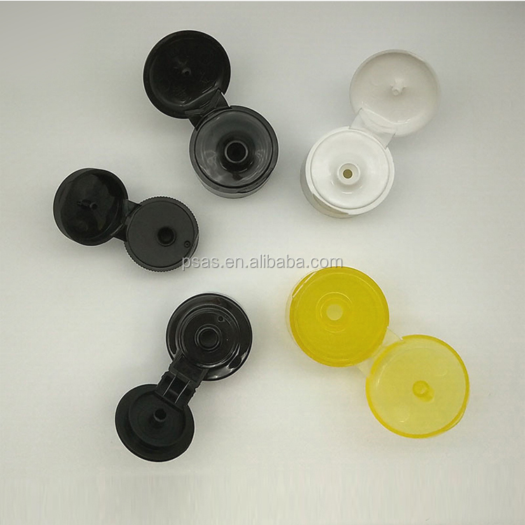 Smooth/Ribbed Type 24 28 Plastic Lid Flip Top Cosmetic Shampoo Cap with PP material