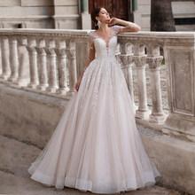 Свадебное платье трапециевидной формы Ashley Carol, романтичное платье принцессы с длинными рукавами и открытой спиной с блестящей аппликацией, ...(China)
