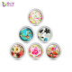 Wholesale 33mm Beautiful Flower Glass Coin Fit For 35mm Coin Holder Locket Pendant,Custom Personalized Coin Disc