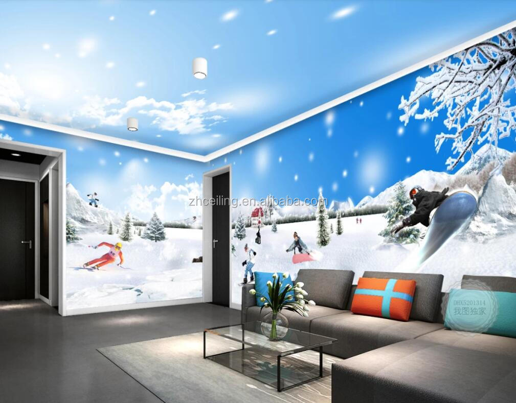 Zhihai 3d Glacier World Romantic Ski Theme Space Full House Background Wall Ceiling Wallpaper Buy Wall Fashion Wallpaper 3d Wall Murals Wallpaper 3d Wallpaper For Walls Product On Alibaba Com