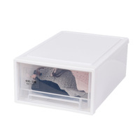 Multi-Purpose Home Plastic Storage Bins Clear Storage with Latching Handlesd