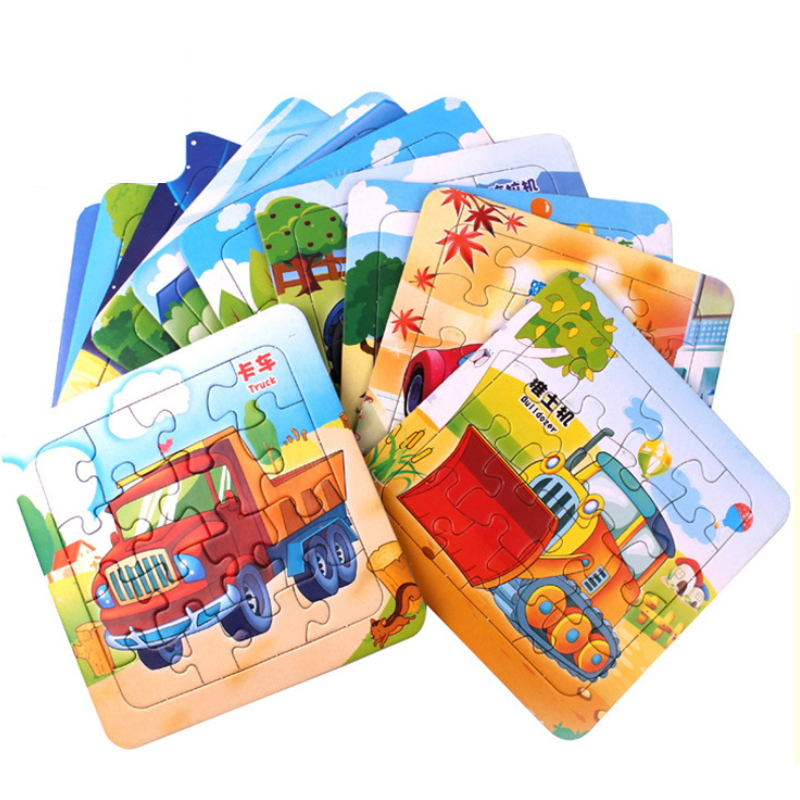 Baby Kid Early Learning Toy Cartoon Pattern Puzzle