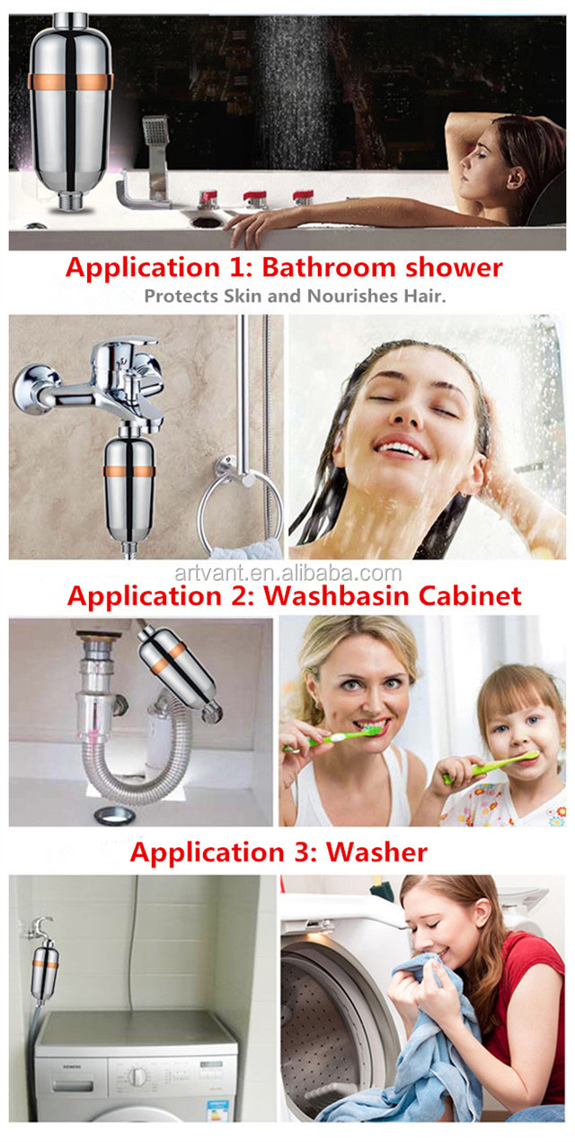 2019 New Arrival Household Shower Filter Bath Water Purifier Water Purification for Chlorine Heavy Metal Removal Bath Treasure