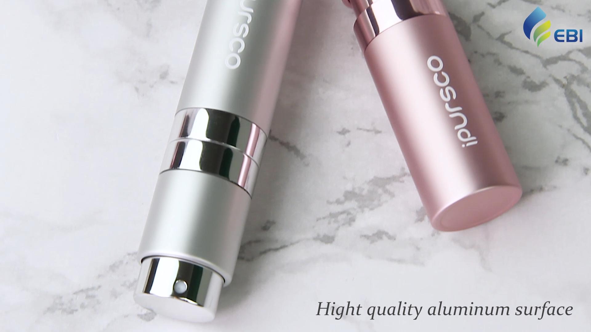 New design 8ml twist up empty perfume atomizer