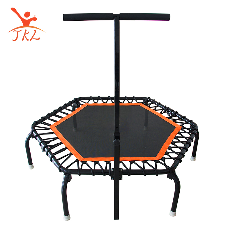 Bungee jump do esporte rodada mini trampolim rebounder fitness com t handle para adulto