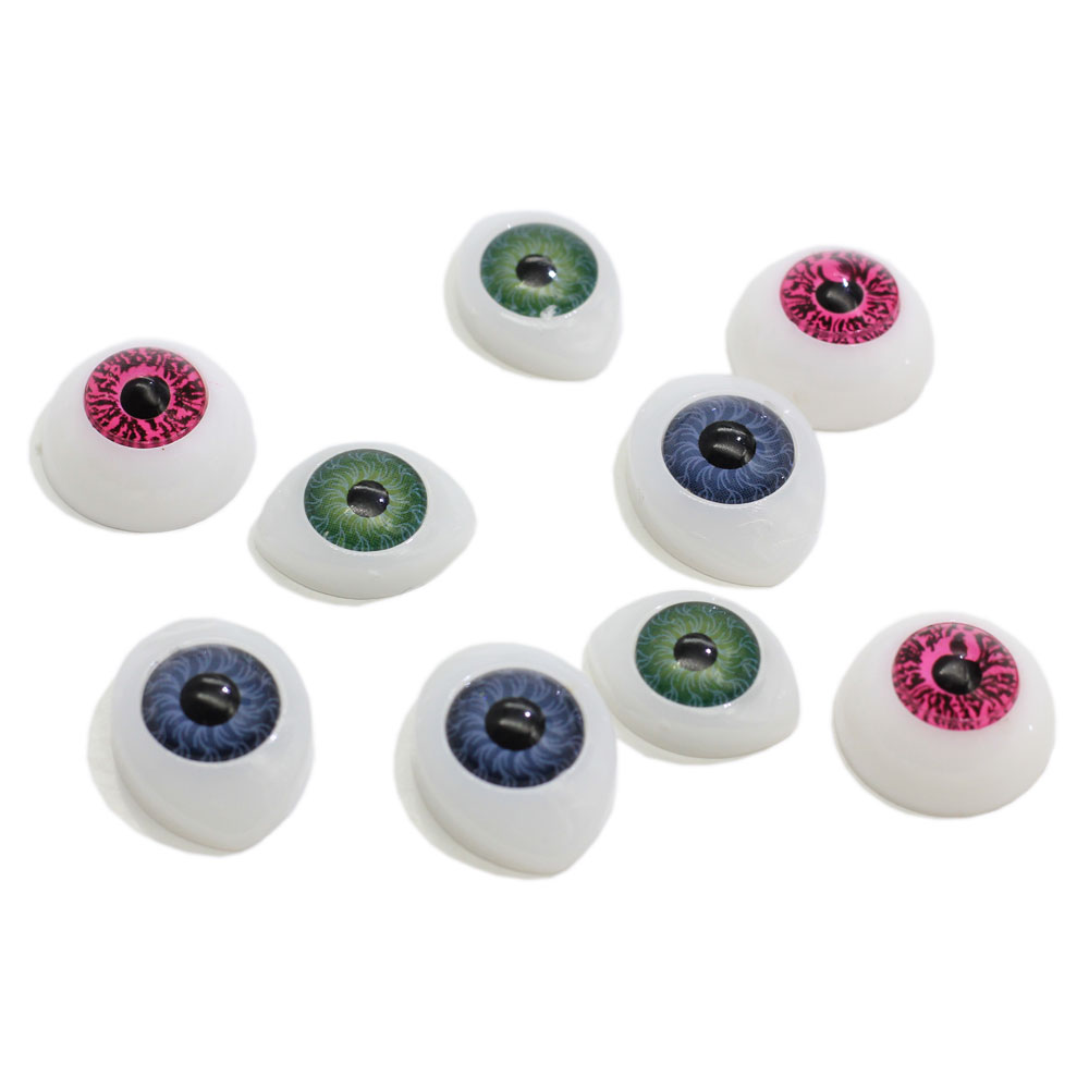 Green Blue Plastic Doll Eyeballs Half Round Acrylic <strong>Eyes</strong> for DIY Doll Toy Parts