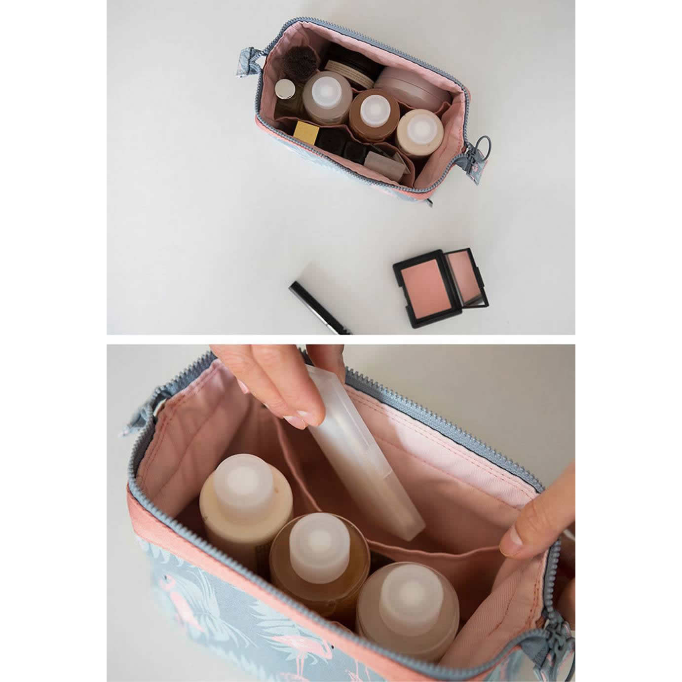 product-New arrival Travel Animal Flamingo Women Girl Cosmetic Bag Makeup Beauty Wash Organizer Toil