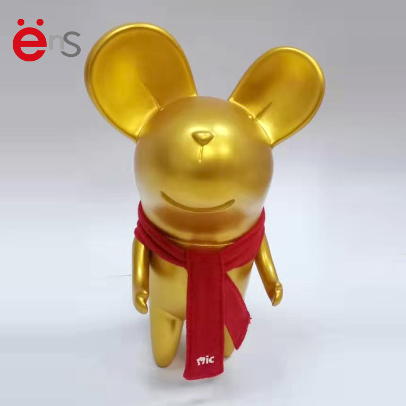 2020 New Year and Christmas Gift Gold Rat Piggy Bank Mouse Coin Bank for Kids