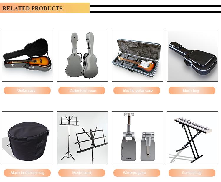מכר עץ אקוסטית/קלאסי/גיטרה חשמלית מקרה שנעשה על ידי מפעל Musicalcase (MCC-WGC01)