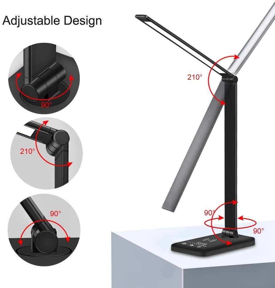 desk lamp with wireless charging