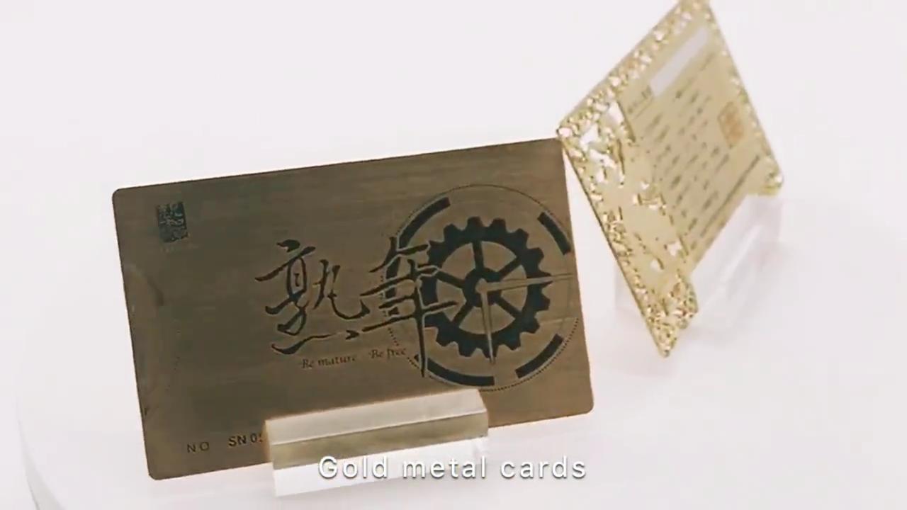 إستانلستيل مخصص طباعة المعادن بطاقة الأعمال
