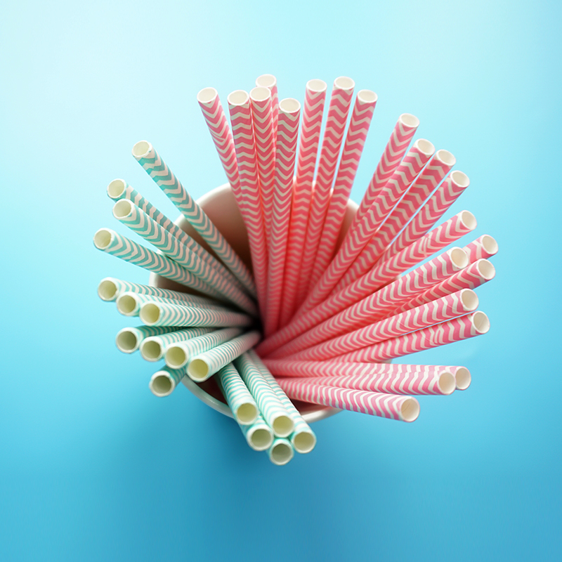 biodegradable 8mm customized color paper straw paper drinking straw