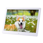 13 inch Indoor LCD wall mounted digital signage monitor USB plastic player playback digital photo frame