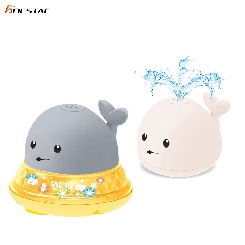 Bricstar Fun toy automatic Induction water spray whale animal bath toy, bath toy spray,with music&colorful light