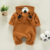 brown unisex toddler jumpsuit boutique baby zipper romper with hood
