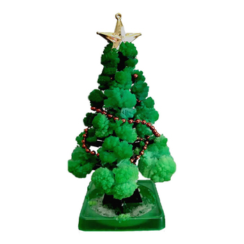 Crystal Growing Christmas Tree Novelty Kit for Kid Gifts Magical growing Christmas tree with interesting crystal gifts